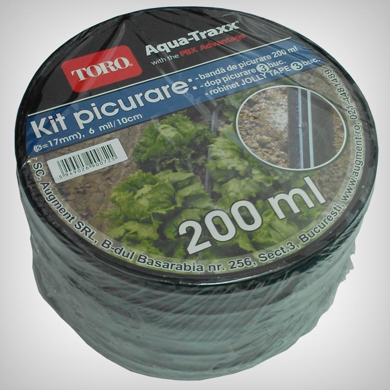 Kit De Picurare Aqua Traxx 6 Mil, 200m + Conectori
