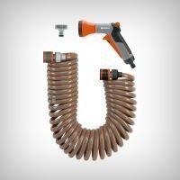 Set furtun spiralat 10m + conectori+pistol