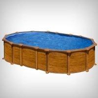 Piscina prefabricata ovala din lemn 610 x 375 x 132