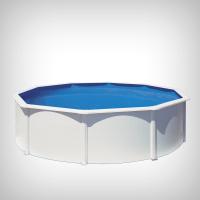 Piscina prefabricata rotunda cu pereti metalici albi, 460 х h 120 cm