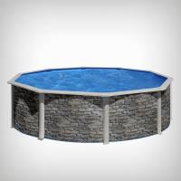 Piscina rotunda cu pereti metalici, aspect piatra,  460 х h 120cm
