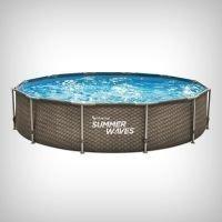 Set piscina rotunda Active Frame Double Rattan 3.05 x 76 cm