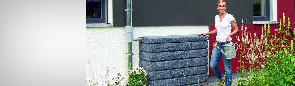 Rezervor apa pluviala ROCKY 400L, granit inchis